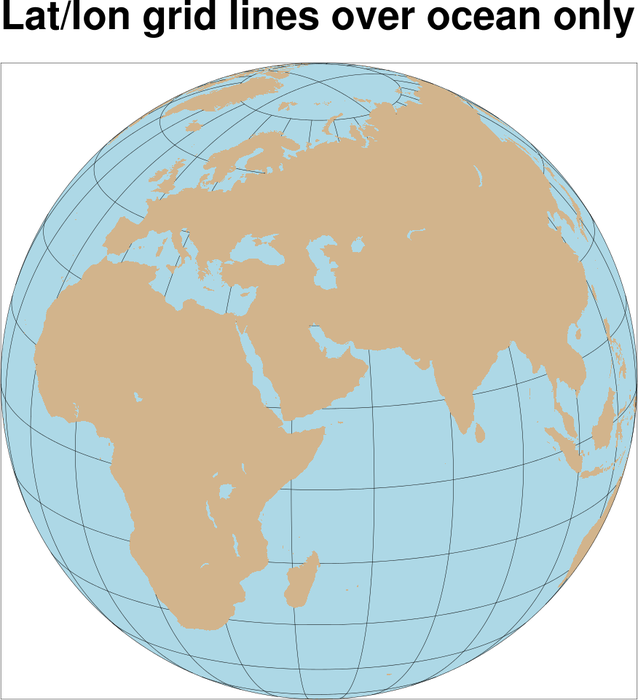 how to draw a grid over a map