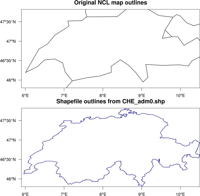 NCL Graphics: map outlines