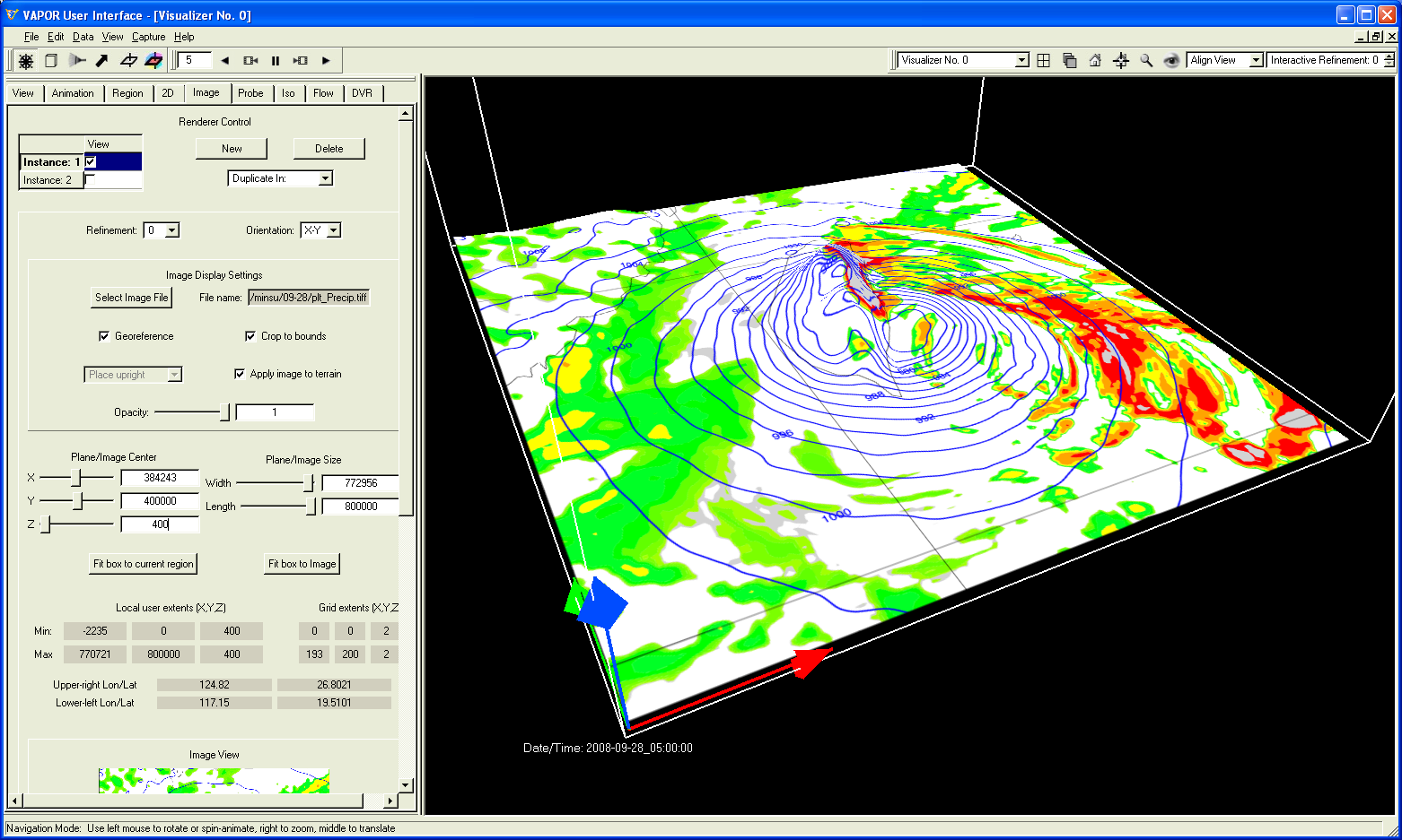 Using NCL with VAPOR to analyze WRF-ARW data in 3D
