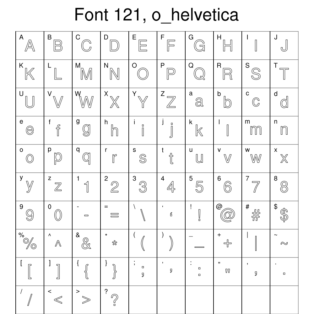 Ncl Graphics Font Tables