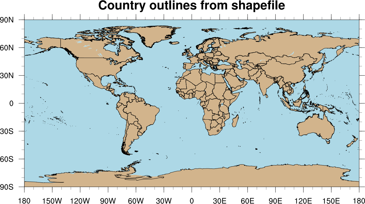 NCL scripts for plotting shapefile data